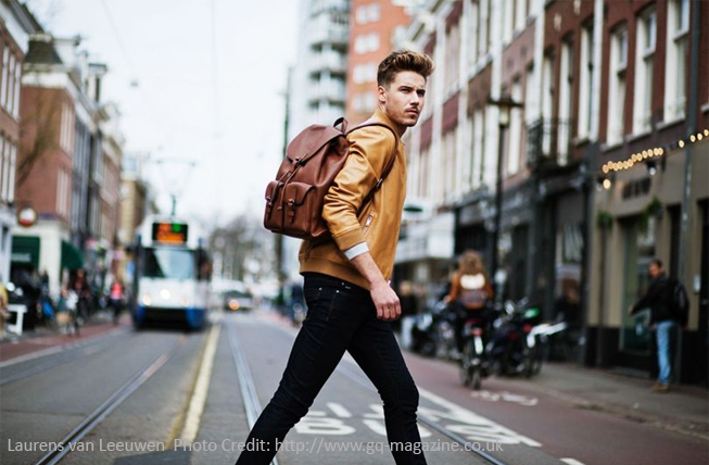 Laurens van Leeuwen in an advertising campaign for Michael Kors