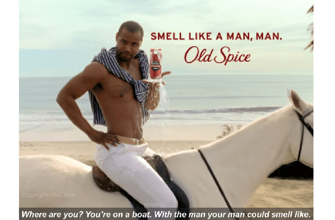 Old Spice shows the success of good TV Advertising